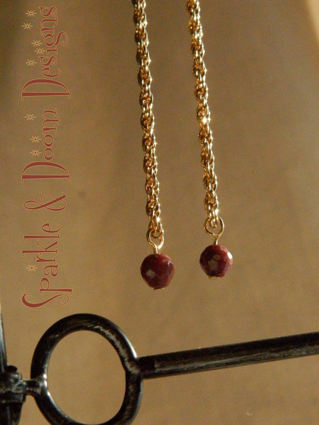 Sparkle and Doom ruby earrings