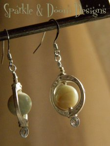 Sparkle and Doom Amazonite earrings