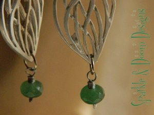 Sparkle and Doom emerald earrings