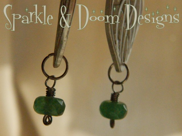 Faceted Emerald earrings