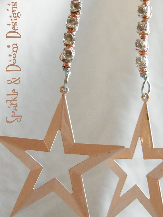 thrifted 80s stars and cup chain!