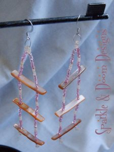 Sparkle&DoomDesigns shell bar earrings
