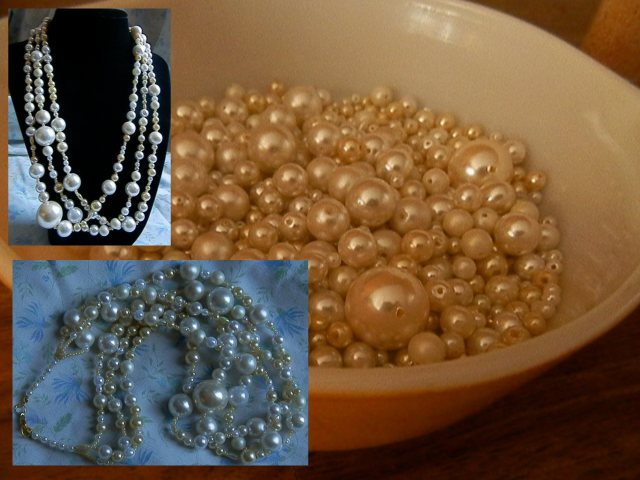 thrifted pearl bead soup!