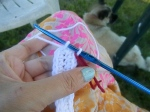 going around and around! I like to use a contrasting piece of yarn as a stitch marker.