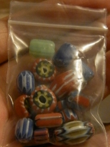 africian trade beads!!!