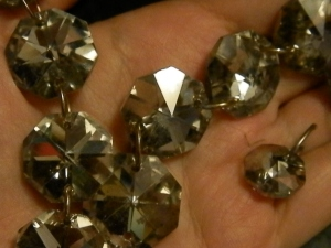 sparkly chandilier beads