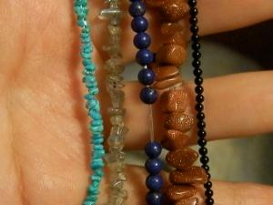 gemstones! turquoise, labradorite, lapis lazuli, goldstone, onyx