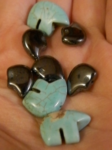 new beads from The Trading Post. Hematite and turquoise bears