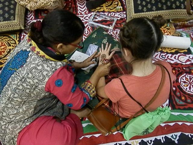Rhiannon got henna done in Pakistan