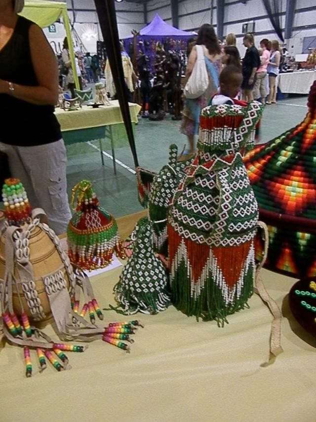 Oromo beadwork display