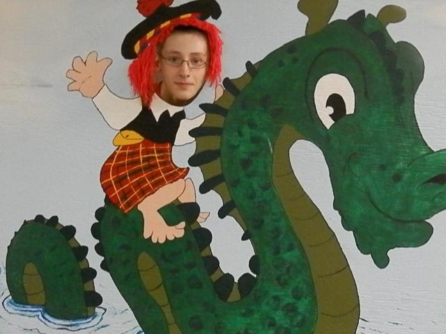 Jake at the Scottish Pavilion.