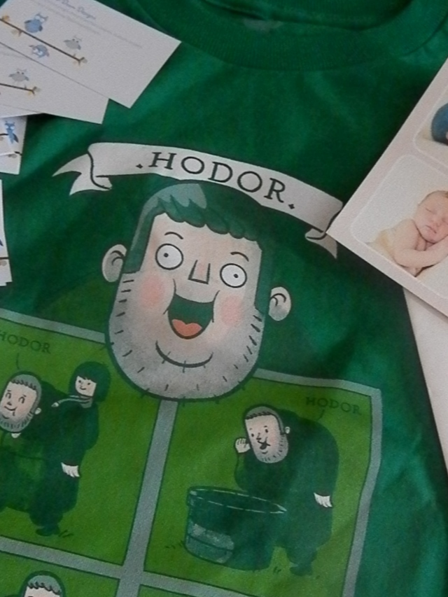 Hodor! Teefury shirt for my Hodor. ;)