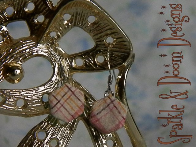 sweet Plaid Hexie Earrings