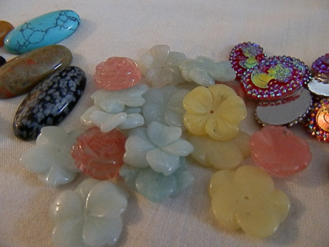 gemstone flower beads