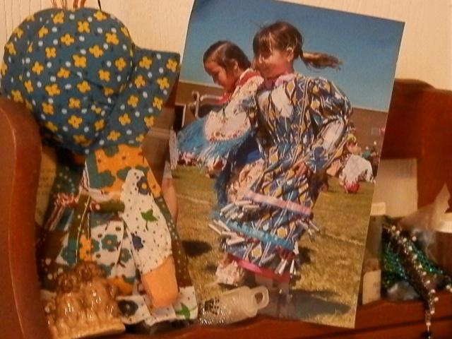 memories. Rhiannon dancing in a jingle dress