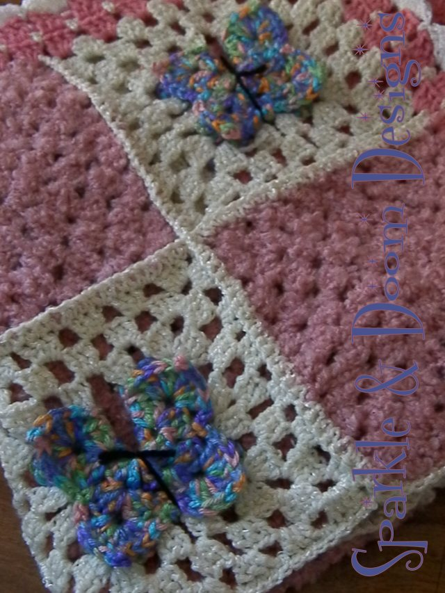 simple single crochet joining of the squares