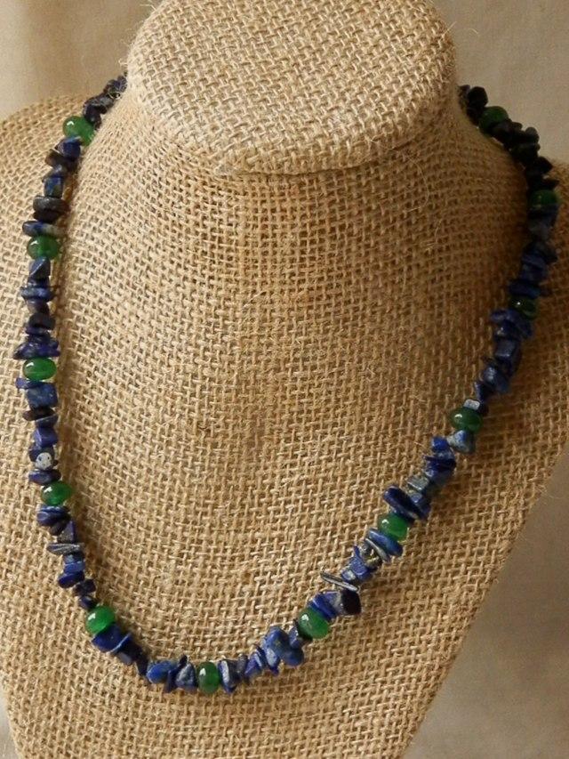 lapis lazuli with emeralds