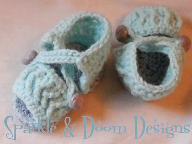 Baby Chevron Sandals {made to order}