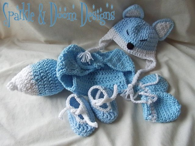 Happy Fox Baby Set {made to order!}