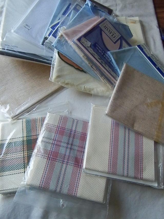 white, cream, linen, brown, pink, blue, & plaid!!