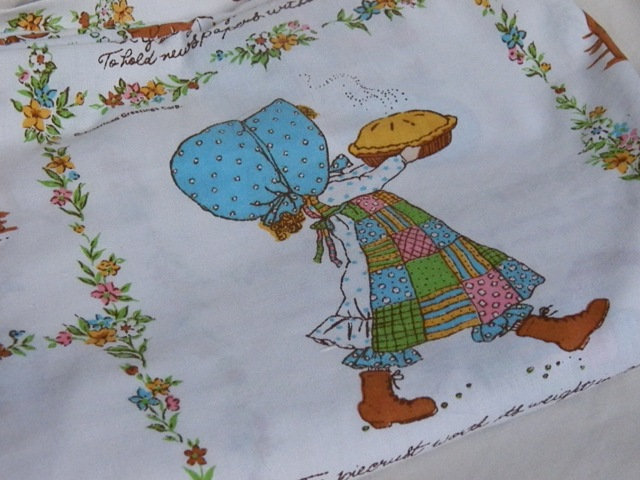 Holly Hobbie flat sheet in Like New condition!