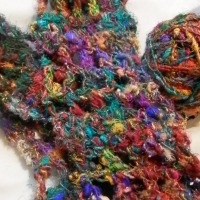 recycled silk yarn & free pattern!