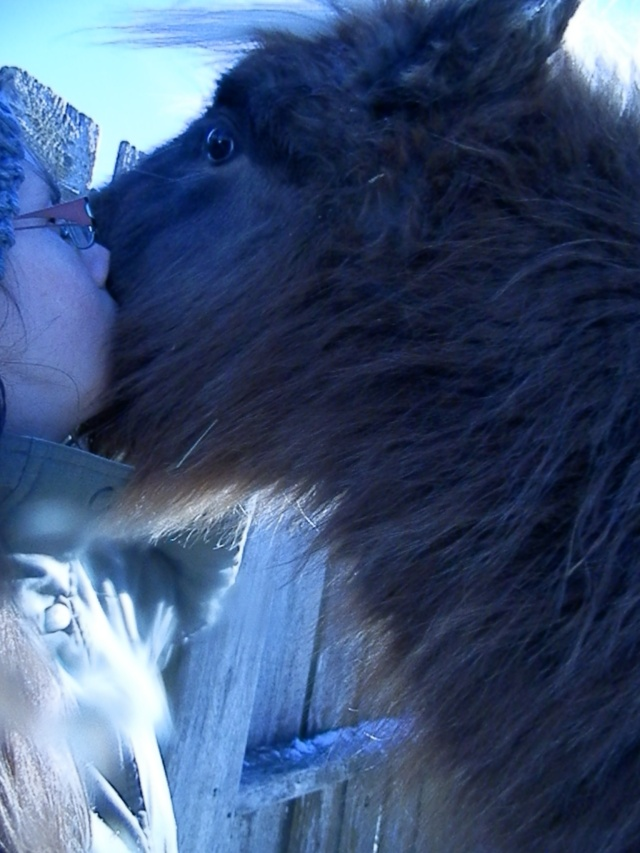 Nora is my baby. So sweet! I just love giving her kisses!