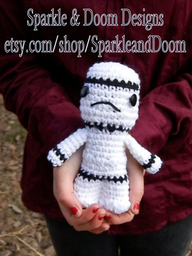 kawaii Storm Trooper doll {click photo to purchase}