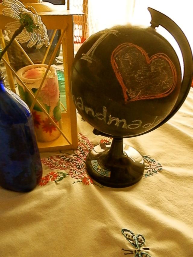 I <3 Handmade: A chalkboard globe I made last week