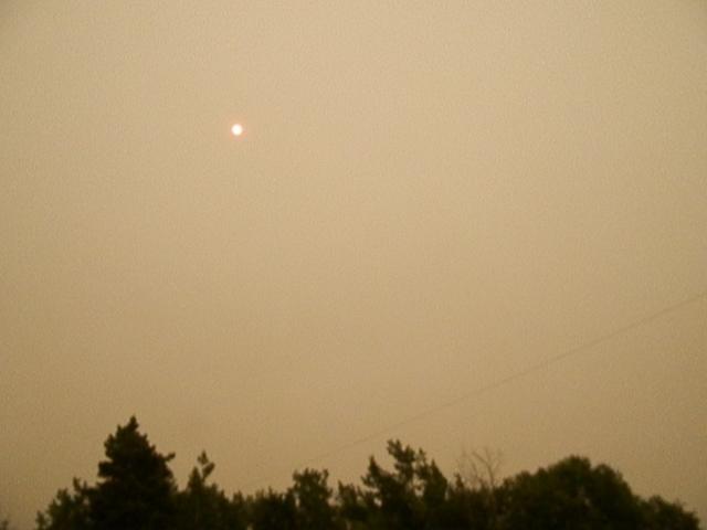 the smoke from the forest fires north of us made everything hazy