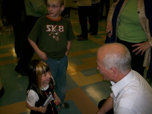 Rhiannon meeting Jack Layton
