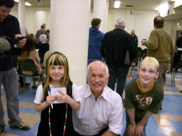 the kids with Jack Layton May 21st 2008