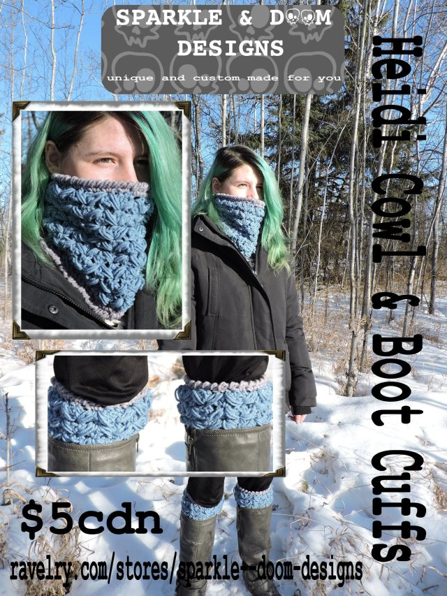 Heidi Cowl boot cuff pattern layer photo with price