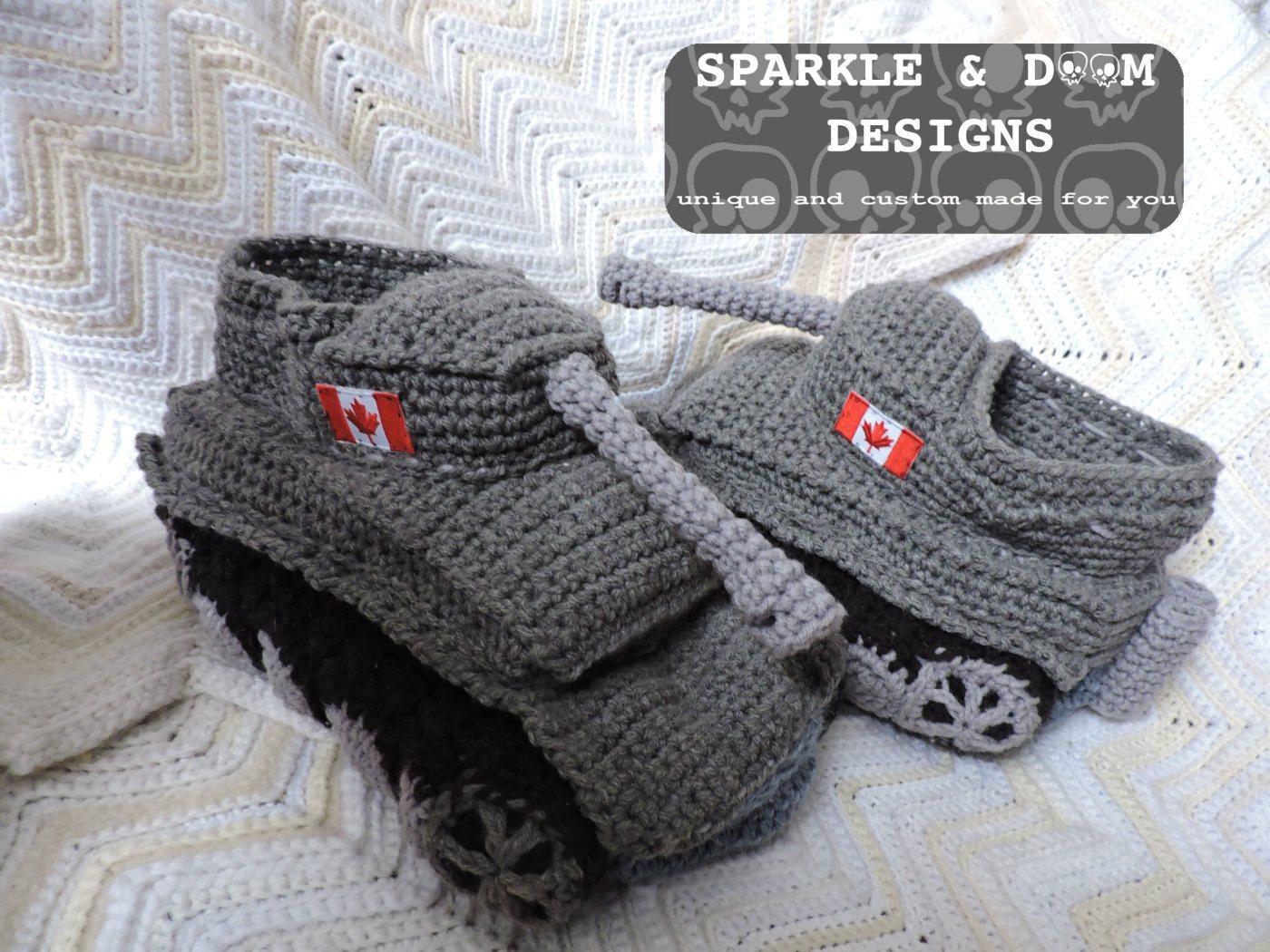 Tank Slippers Sparkle Doom Designs