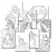 Free Coloring Sampler - Selina Fenech - Fantasy Creations
